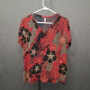 3 for $12- XL floral Blouse